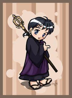 Inuyasha Chibi - Miroku by righteousred on DeviantArt Inuyasha Funny, Inuyasha Fan Art, Inuyasha And Sesshomaru, Inuyasha Memes, Anime Love, Me Me Me Anime, Miroku, Kirara, Manga Anime