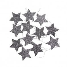 Star garland Charcoal grey  Mouche