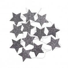 Star garland Charcoal grey  Mouche
