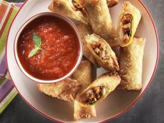 Meatball Sub Egg Roll from CookingChannelTV.com
