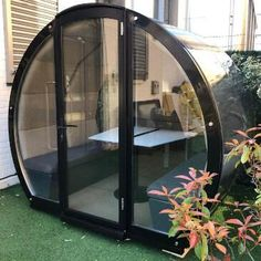 The Meeting Pod Outdoor Office Pods, Outdoor Office, Commercial Furniture, Office Interiors, Solar Panels, Flexibility, Outdoor Furniture, Studio, Random