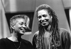 June Jordan and Angela Davis, appearing in the documentary: A Place of Rage.