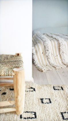 Moroccan Wedding BlanketThe Handira is hand woven from 100% wool by the Berber women of the Middle Atlas Mountains in Morocco. They are traditional wedding blankets worn by the Berbers as a cape during the ceremony.Vintage Moroccan woolen throw decorated with gorgeous fringes. Each Handira is one of a kind. Hand-woven wool-cotton, embellished with silver sequinsThey add a touch of bohemian chic to your home and make beautiful bed coverlets, gorgeous wall hangings or sump...