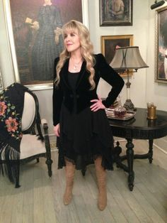 Stevie Nicks on set of American Horror Story Coven