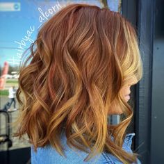 60 Best Strawberry Blonde Hair Ideas to Astonish Everyone - Copper Brown Hair With Golden Blonde Highlights - Red Hair With Blonde Highlights, Golden Blonde Hair, Copper Blonde, Red Hair With Lowlights, Golden Copper Hair, Copper Brown Hair, Copper Balayage, Peekaboo Highlights, Bronze Highlights