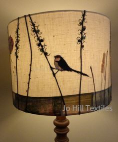 Bird lampshade Long Tailed Tit
