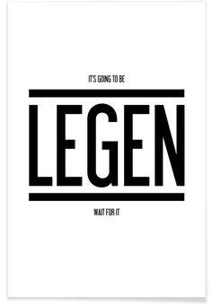 Legendary 1 als Premium Poster von typealive | JUNIQE