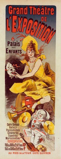 """Affiche pour le """"Grand Théâtre de l'Exposition""""."""