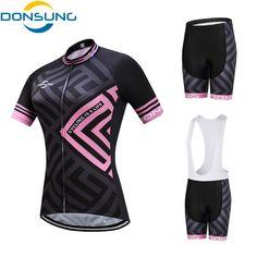 e0a9516d5 DONSUNG Brand Cycling Set Women 2017 Pro Bicycle Team MTB Cycling Clothing  Short Sleeve Cycling Sets Summer Cycling Jersey Set