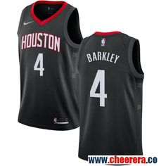 805ab92f4 Houston Rockets  4 Charles Barkley Black Nike NBA Men s Stitched Swingman  Jersey