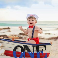 **PLEASE NOTE** This is an outfit only, photo props / backdrops are not included Adorable 4 piece red and white mickey sailor boys 1st birthday outfit including handmade hat, suspenders (either single or multiple anchors), bow tie and nappy cover. This outfit is perfect for your