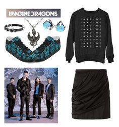 """""""Meeting Imagine Dragons"""" by rubysal ❤ liked on Polyvore featuring Balmain, Bling Jewelry, Carolina Glamour Collection, John Hardy and imaginedragons"""