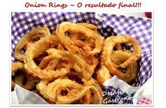 Desafios Gastronômicos: DESAFIO: Reproduzir os Onion Rings (Anéis de Cebola) do Burger King!! Burger Party, Onion Rings, Ethnic Recipes, Food, Party Ideas, Hamburger Party, Challenges, Ideas Party, Play