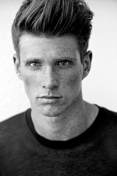 Hot Ginger Men, Ginger Hair, Models With Freckles, Coffee Colour, Men's Collection, Redheads, Red Hair, Character Inspiration, Facial