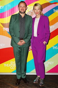 Pin for Later: There's So Much Fashion Happening Off the Runway Too Cate Blanchett Cate Blanchett with Andrew Upton at the Sydney Theatre Company launch.