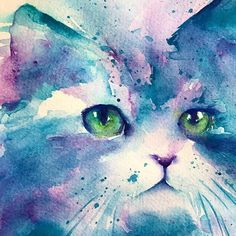 I don't know if I'm going to fuss with this girl a bit more but for now #wip #paintingoftheday #catlove . I am loving how the sennelier red violet plays with the Daniel smith turquoise . . . . . . #watercolor #watercolour #waterblog #watercolour_gallery #creativelifehappylife #creative_animalart #creative #cat #petportrait #catsofinstagram #catstagram #petart #animalillustration #12monthsofpaint #worldwatercolorgroup #art_spotlight #art_we_inspire #art #artistic_dna #animalart #animalcr...