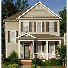 View product images for MP - Mid-America Standard Raised Panel Vinyl Shutters - Traditional Style. Exterior House Siding, Best Exterior Paint, Exterior Paint Colors For House, Paint Colors For Home, Exterior Colors, Exterior Doors With Sidelights, Exterior Doors With Glass, Vinyl Shutters, House Shutters
