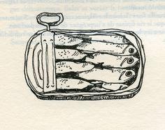 sardines, illustration création: claudia comelade