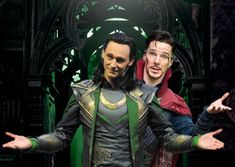 Doctor Strange photo bombs Loki