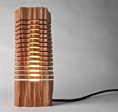 Split Wood Lamps Create Beautiful Fusion of Tech + Nature | Paul Foeckler of Split Grain takes gorgeous pieces of California cypress trees and turns them into lamps and lights.