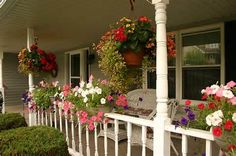 front porches with flowers - yahoo Image Search Results