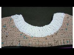 yuvarlak yaka kazak nasıl örülür kazak yakası yapılışı#yakayapımı# yuvarlakyakayapımı# - YouTube Baby Knitting Patterns, Hat Patterns, Baby Sweaters, Crochet Top, Projects To Try, Lace, Youtube, Women, Fashion