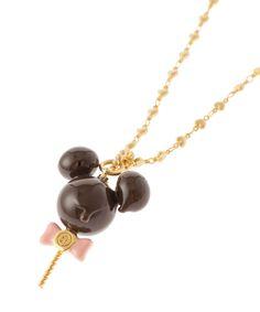 Q-pot - ミッキーマウス / メルティーロリポップチョコレート ネックレス
