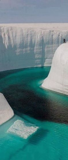 Great Ice Canyon in Iceland