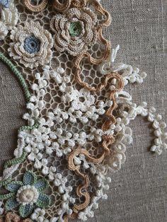 Фотография Freeform Crochet, Crochet Art, Thread Crochet, Crochet Flowers, Russian Crochet, Japanese Crochet, Irish Crochet, Bobbin Lace Patterns, Crochet Collar