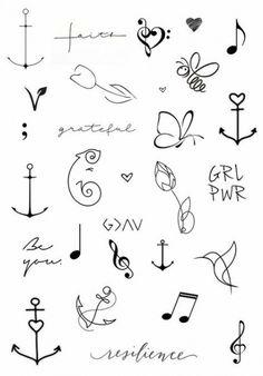 tattoo symbols simple tattoos drawing doodle meaning drawings wrist mini tatuajes smal behind creative bird flash ru finger henna suburbanmen