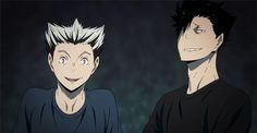 kuroo, bokuto, anime, s2, ep20, gif, training camp, http://urushenna.tumblr.com/post/139675988989/bokuroo-in-haikyuu-s2-e20