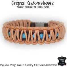 Indianer Halsband Leder 3 cm breit kleine Hunde