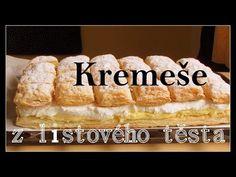 Kremeše. Vanilkovo-smetanový dezert. - YouTube
