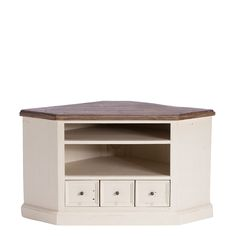 The Berkshire TV Cabinet is made from recycled and reclaimed wood with a white painted finish, sundried ash tops and metal handles for that finishing touch.