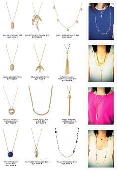 Stella and Dot picture tutorial on how to layer necklaces.  Love it! www.stelladot.com/adriannelherren