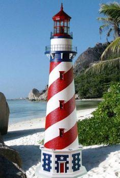 Fabulous finds for your vintage beach decor, classic nautical decor, lush tropical decor, and upscale coastal decor. Garden Lighthouse, Clay Pot Lighthouse, Lighthouse Decor, Lighthouse Quotes, Coastal Style, Coastal Decor, Tropical Decor, Indoor Outdoor, Outdoor Decor