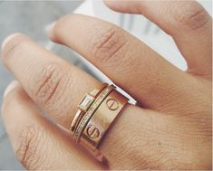 Cartier Love Ring stack. Drool