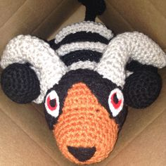 This adorable Houndoom Amigurumi was commissioned as a birthday present - and he is now available as a made to order plushie for everyone! :)