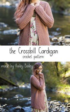 35b5cbf8feff Crossbill Cardigan herringbone arrow chevron slouchy crochet cardigan  crochet pattern by  madebyhaileybailey Half Double Crochet
