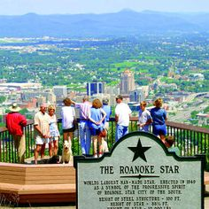 Roanoke, Virginia - looking down from the Roanoke Star