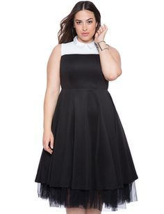 Collared Tulle Dress from eloquii.com