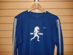 "RARE Nike Dri Fit ""Dark Horse"" Long Sleeve Running Shirt Blue Small Running LOOK #Nike #ShirtsTops"