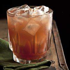 """In the Red Riding Hood Cocktail: root beer liqueur, lemon juice and red currant preserves, """"create the drinkable version of a lush walk in the woods."""" From @Saveur Magazine, found on www.edamam.com."""