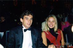 Ayrton Senna e Adriane Galisteu, festa em Monte Carlo, Mônaco, 1993.