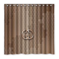 NEW GUCCI NY GG Gold Shower CurtaIn 60