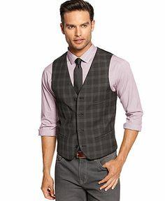 Alfani Vest, Plaid Vest - Men's Vests - Men - Macy's $44.99