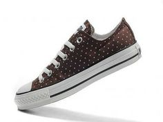 Fashionable Converse All Star Pink Dots Low Top Brown