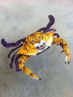 LSU crab, spray a little glitter,  perfect Xmas ornament!!!!..... lol