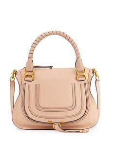 V282G Chloe Marcie Medium Satchel Bag, Nude
