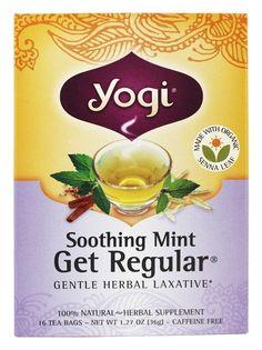 Yogi Tea - få regelmæssig lavet med Økologisk Senna Leaf Soothing Mint - 16 teposer